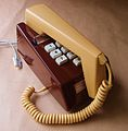 766 Snowdon Collection push button Trimphone in brown and cream.JPG
