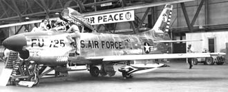 20th Air Division - F-86D Sabre of the 20th Air Division's 85th Fighter-Interceptor Squadron at Scott AFB in 1957