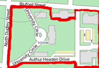 Agricultural and Technical College of North Carolina Historic District - Map outlining the boundaries of the Historic District.