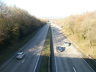 A4232 road - Looking north towards the M4