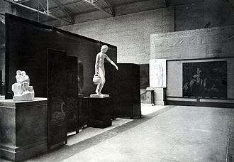 Robert Winthrop Chanler - The 1913 Armory Show in New York featuring two of Chanler's screens