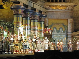 Arena di Verona Festival - 2011 production of AIDA; the Act 2 Triumphal March