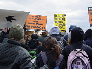 ANSWER Coalition march on the Pentagon.
