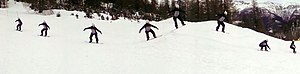 ActionShot - ActionShot photograph of a snowboarder.