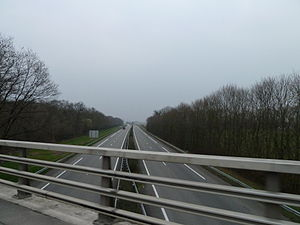 European route E80 - A64 autoroute is a motorway in south western France, at Pau here.