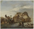 A Nobleman's Sleigh on the Ice (Philips Wouwerman) - Nationalmuseum - 17712.tif