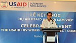 A beneficiary of USAID HIV Workplace Project, who lives in Ho Chi Minh City, tells his story at the event. (9092283030).jpg