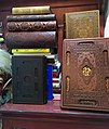 A collection of luxurious Qurans and other holy books, Adligat, Belgrade.jpg