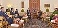 A delegation led by the Vice President of Myanmar, Dr. Sai Mauk Kham calling on the President, Shri Pranab Mukherjee, in New Delhi on January 21, 2015.jpg