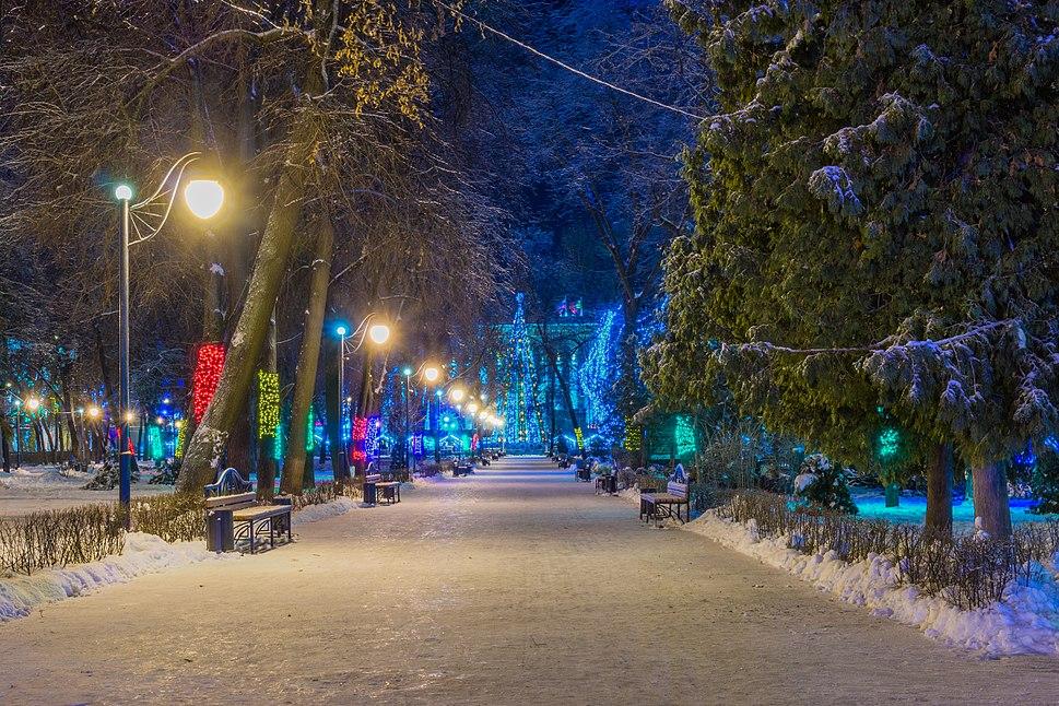 A parkway in Koltsovsky Garden Square, Voronezh, Russia
