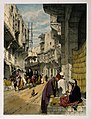A street scene in Cairo with a street seller at work. Colour Wellcome V0019262.jpg