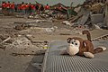 A stuffed monkey is seen in Moore, Okla., as U.S. Airmen based at Sheppard Air Force Base, Texas, help clean up debris June 8, 2013 130608-F-ZB240-077.jpg