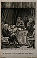 A young woman lies dying in her bed surrounded by a grieving Wellcome V0015169ER.jpg