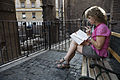 A young woman reading, Rome - 2072.jpg