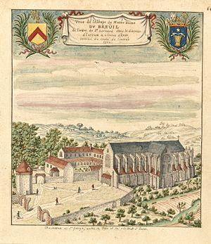 Le Breuil-Benoît Abbey - Le Breuil-Benoît Abbey in 1702.