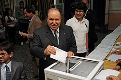 Abdelaziz Bouteflika casts his ballot in May 10th's 2012 legislative election