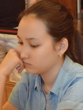 Zhansaya Abdumalik - Zhansaya Abdumalik at the Vienna Open 2015