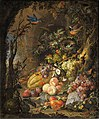 Abraham Mignon - Flowers, fruits, birds and insects in a landscape with ruins.jpeg