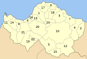 Achaia municipalities numbered.svg