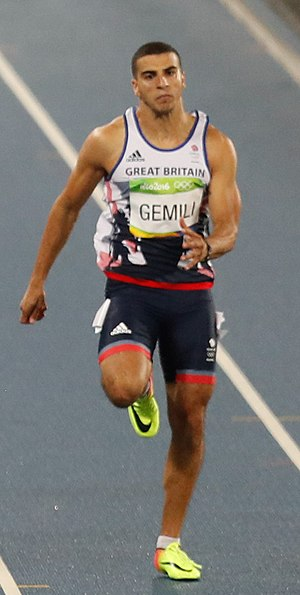 Adam Gemili - Gemili running 200 m final at the 2016 Olympics