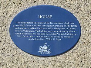 T. G. Waterhouse - Image: Adelaide Waterhouse House plaque Aug 08