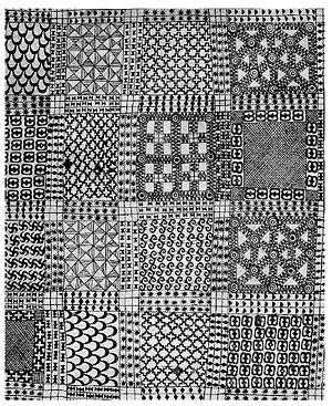 Adinkra symbols - 1817 Adinkra mourning cloth