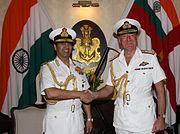 Admiral Robin K. Dhowan and Royal Navy Adm. George Zambellas
