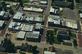 Falls City, Nebraska - Aerial view of Falls City