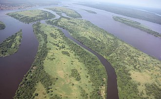 Congo River - Aerial view of the Congo River