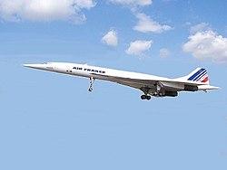 O Concorde, o segundo avião supersônico comercial do mundo, e também o único a ser utilizado com sucesso em rotas comerciais.