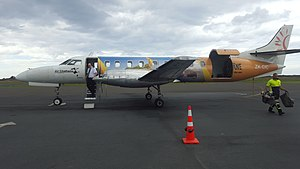 Air Chathams - Colourful Air Chathams Fairchild Metroliner on the tarmac at Whakatane Airport. The aircraft is used exclusively by the airline to maintain a scheduled air service between the Bay of Plenty town and Auckland International Airport.