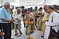 Alakananda Ghosh Lighting Lamp - Opening Ceremony - 1st Four Ps Group Exhibition - Kolkata 2019-04-17 5416.JPG