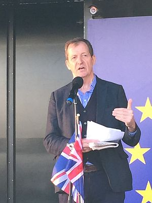Alastair Campbell - Alastair Campbell speaking at an anti-Brexit rally in Parliament Square, London on 25 March 2017