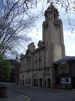 Albert Hall, Nottingham - The Albert Hall from Wellington Circus