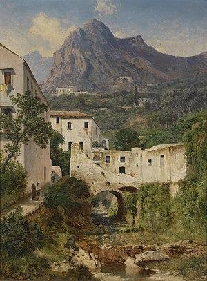 Albert Zimmermann - Mill Valley near Amalfi