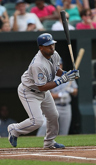 Alberto Callaspo - Callaspo batting for the Kansas City Royals in 2009