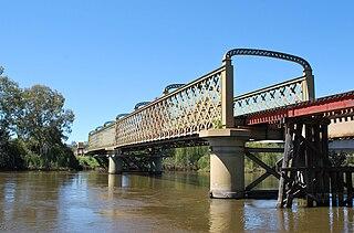 Murray River railway bridge, Albury–Wodonga railway bridge in Albury-Wodonga, Australia