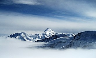 Aletschhorn - The Aletschhorn from the Jungfraujoch