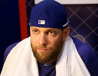 Alex Gordon - Image: Alex Gordon listens to reporters on WS Media Day (22888475465)