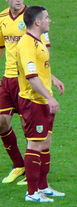 Alex MacDonald (footballer, born 1990) - MacDonald playing for Burnley in 2011