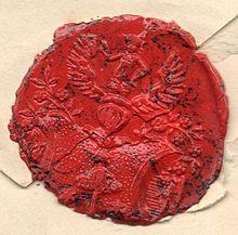 Humboldts Siegel auf einem Brief (Quelle: Wikimedia)