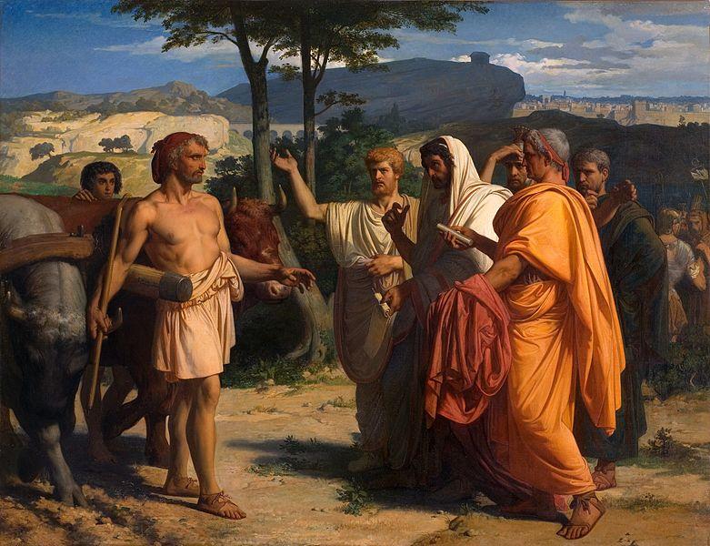 Cincinnatus recevant les ambassadeurs de Rome