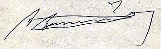 Alfonso García Robles - Image: Alfonso García Robles (Firma)