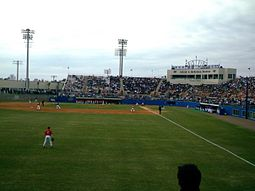Alfred A. McKethan Stadium Alfred A. McKethan Stadium viewed from the outfield bleachers.jpg
