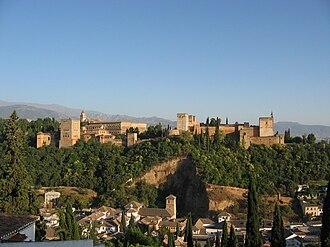 Concurso de Cante Jondo - The Alhambra, as seen from Mirador de San Nicolás,   in Granada.