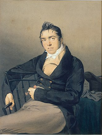 Herman Melville - Melville's father, Allan Melvill (1782–1832), portrait from 1810 by John Rubens Smith, Metropolitan Museum of Art, New York. In his novel Pierre (1852), Melville fictionalized this portrait as the portrait of Pierre's father.