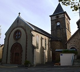 The church in Almont-les-Junies