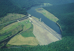 Kettle Creek (Pennsylvania) - The Alvin R. Bush Dam, which separates the lower Kettle Creek watershed from the rest of the watershed
