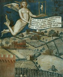 LORENZETTI, Ambrogio Effects of Good Government in the Countryside (angel) 1338-40