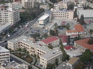 American Academy of Larnaca - Aerial view of the school grounds.